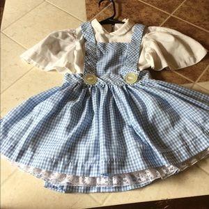 Wizard of Oz Dorothy costume dress. Handmade 3T